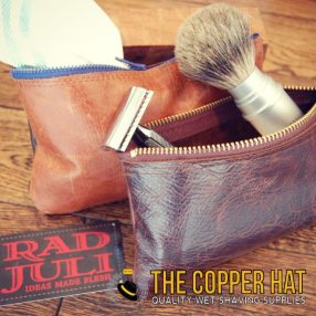 Handmade Zippered Pouch in Sustainable Leather