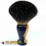 Hand crafted Spruce Beetle Kill Black Badger Shaving Brush