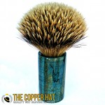 Hand Crafted Blue Spalted maple burl grade a silvertip badger shaving brush