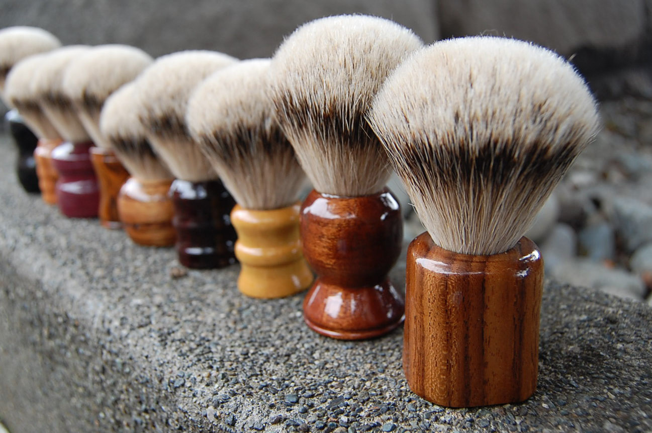 brushes in a row