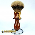 Hand crafted Caragana Grade A Silvertip Badger Shaving Brush