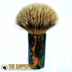 Hand Crafted Hybrid Spalted Maple Burl Grade A Silvertip Badger Shaving Brush