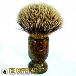 Hand crafted Green Spalted Maple Grade A Silvertip Badger Shaving Brush
