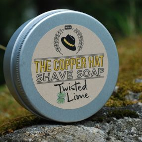 The Copper Hat All-natural Shave Soap Twisted Lime
