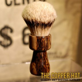 Black Palm Grade A Silvertip Badger Shaving Brush handcrafted at The Copper Hat