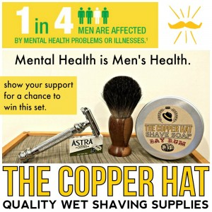 A giveaway to help raise funds and awareness for men's and mental health initiatives