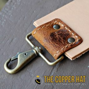 Handcrafted 3 inch premium Leather Straight Razor Strop 2