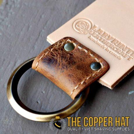 Handcrafted 3 inch premium Leather Straight Razor Strop 3