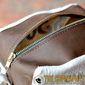 Handcrafted Money Bag Reclaimed Leather Shaving Dopp Kit