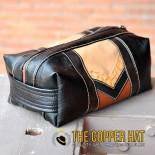 Handcrafted Reclaimed Leather Shaving Dopp Kit