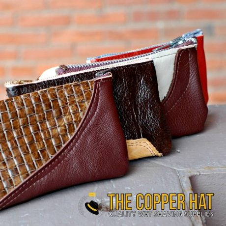Handcrafted reclaimed leather zip pouch 3