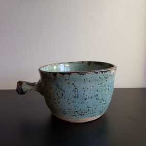 Robins Egg Speckled Handcrafted Lathering Bowl
