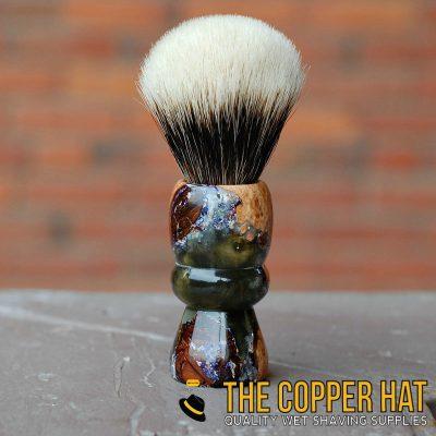 Handcrafted Opal Acrylic Resin Maple Finest Badger Shaving Brush 6
