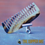Hand sawn Ragnar Horn Comb Marbled