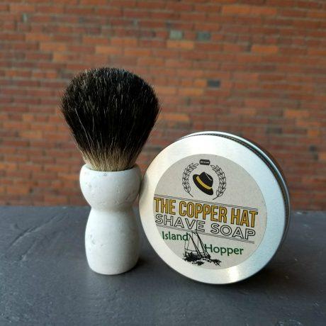 Handcrafted Black Badger Reclaimed Styrofoam Shaving Brush 3