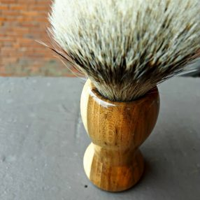 Handcrafted Fruit Tree Silvertip Badger Shaving Brush 2