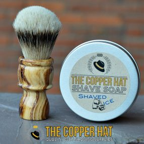 Handcrafted Lilac Silvertip Badger Shaving Brush & Soap