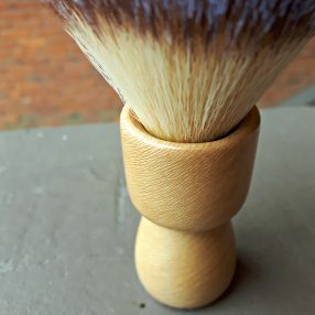 Handcrafted London Plane Synthetic Shaving Brush 2
