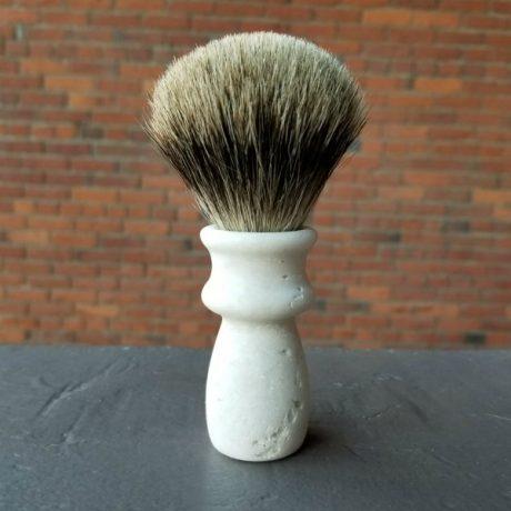 Handcrafted Pure Badger Reclaimed Styrofoam Shaving Brush 1