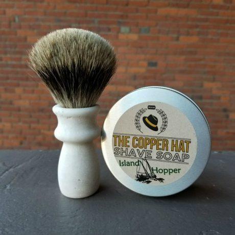 Handcrafted Pure Badger Reclaimed Styrofoam Shaving Brush