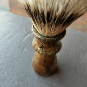 Handcrafted Silvertip Badger Spalted Maple Shaving Brush 1