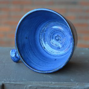 Royal Blue Handcrafted Lathering Bowl 2