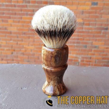 Maple Burl Grade A Silvertip Badger