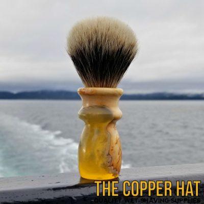 Handcrafted Yellow Cedar Acrylic Hybrid Badger Hair Shaving Brush