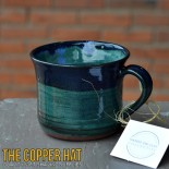 Handcrafted Navy & Turquoise Lathering Mug