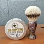 Handcrafted Silvertip Badger Amethyst Spalted Maple Shaving Brush 2