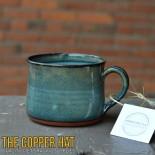 Handcrafted Turquoise & Denim Blue Lathering Mug