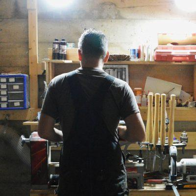 Brad Making Shaving Brushes