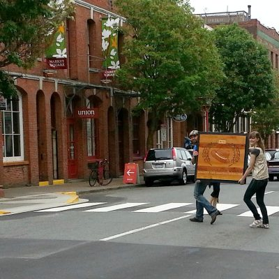 Relocating Our Sign to Market Square from Fan Tan Alley