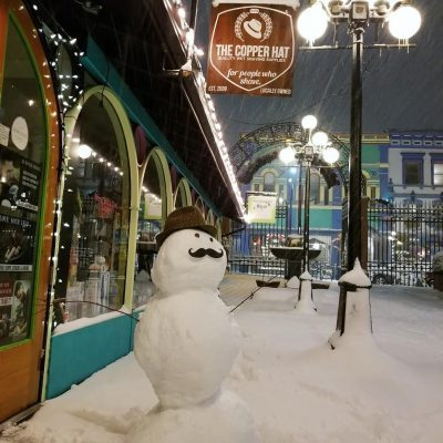 It snowed in Victoria!