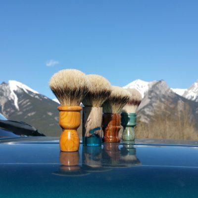 Handmade Shaving Brushes traveling through the Rockies!